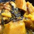 カボチャと鶏肉とひじきの煮もの