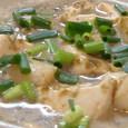 帆立と豆腐と岩のりの豆乳煮込み