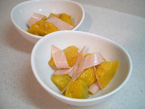 揚げカボチャのサラダ