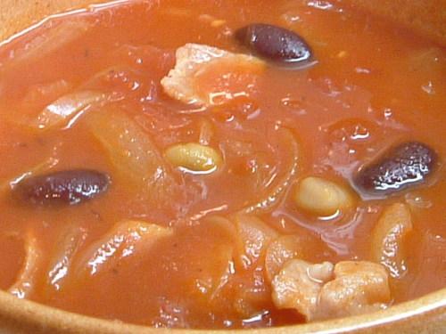 トマトのマメスープ
